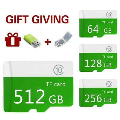 Micro-SD Memory Card 1GB-512GB Class10+Sd-Tf Large-Capacity For Mobile Or PC Lot