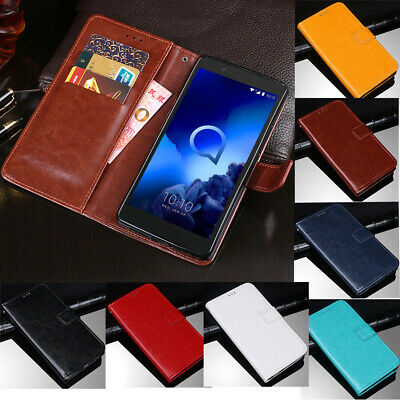 For Alcatel 1S 2019 1C 3L 1X 3V Luxury Slim Leather Flip Stand Wallet Case Cover