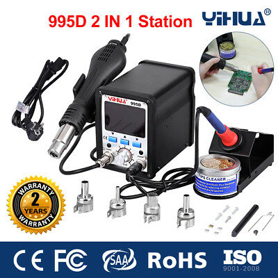 2 In 1 995D Desoldering Station Hot Air Rework Soldering Iron Repair Tools Kit