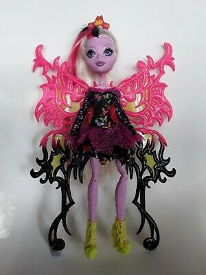 Bonita Femur Freaky Fusion Monster High Doll Excellent used condition Moth