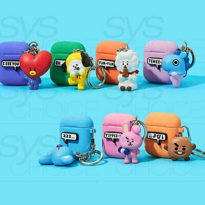BTS BT21 Official Authentic Goods Keyring Airpods Case 7Characters By Royche
