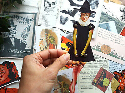 50 Vintage Collectible Paper Doll Vintage Witch Paper Doll Card Making