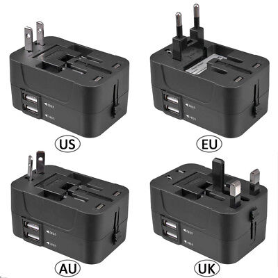 2019 World Wide Universal Travel Adapter Multi Plug Charger with Dual USB 2 Port