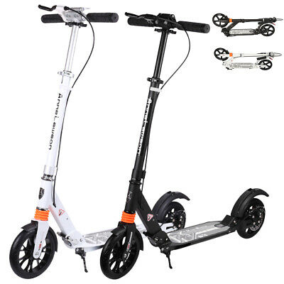Hand Disc Brake Folding Scooter Dual Large Wheels Adult Commuter Child Supension