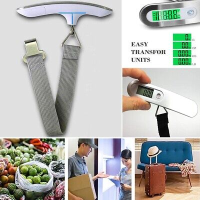 50kg/10g Portable LCD Digital Hanging Luggage Scale Travel Electronic Weigh