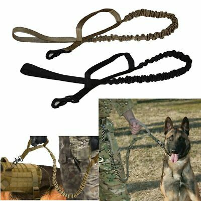 Dog Tactical Leash Elastic Training Walk Military Puppy Retractable Nylon Rope