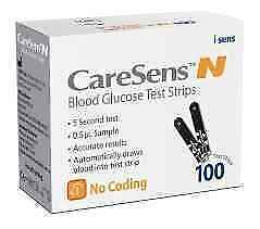 Caresens N Blood Glucose Test Strips - 100