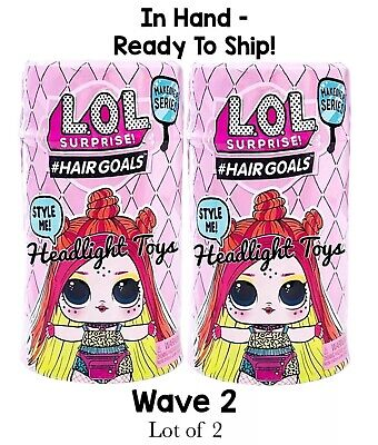 2 Authentic LOL Surprise Makeover Series 5 WAVE 2 Hairgoals Doll Big Sister Boys