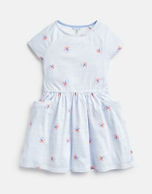 18f844c3a845 JOULES GIRLS JUNO Peplum Midi Dress Yr in BLUE LOBSTER STRIPE - EUR ...