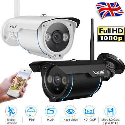 Sricam 1080P H.264 Wifi 2.0 Megapixel Wireless CCTV Security IP Camera TF Slot