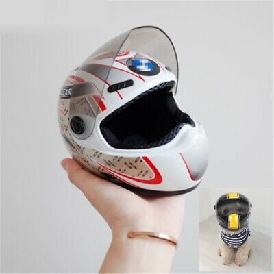 Puppy Cat and Dog Hat Helmet Small Pet Cool Fashion Outdoor Caps Motorcycle BMW