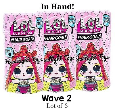 3 LOL Surprise Makeover Series 5 WAVE 2 Hairgoals Doll Boys Sparkle 1 6 In Hand