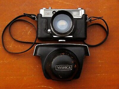 Yashica Lynx 14E 35mm Film Rangefinder, Working, Filter & Hood, Original Case