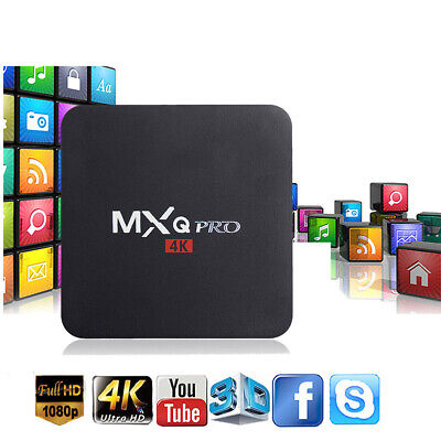 MXQ PRO Quad Core Android 7.1 Smart TV Box 1+8GB HDMI WIFI 4K Media Streamer FR