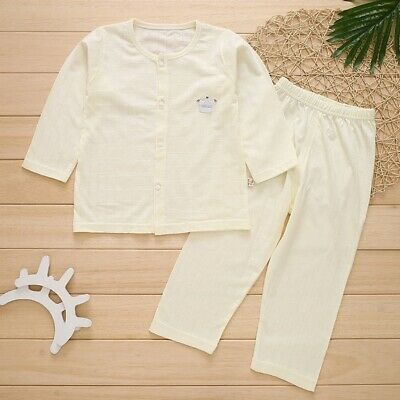 Newborn Infant Baby Kids Boys Girls Long Sleeve Summer Cotton Clothes Outfit