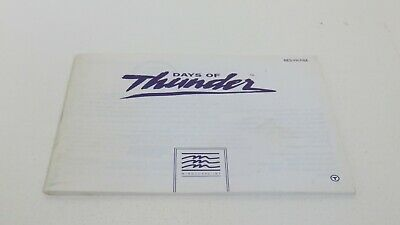 Days of Thunder - NES manual only