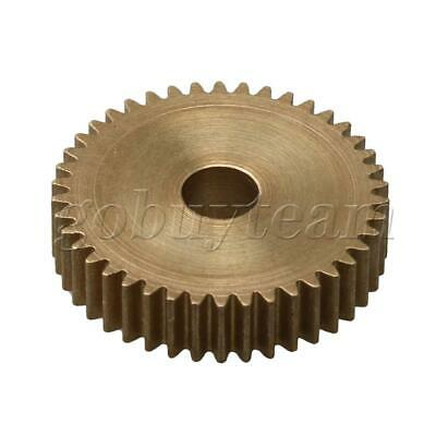 Cylinder 42 Teeth 0.5 Module Brass Motor Copper Gear 22.5mm Tip Circle