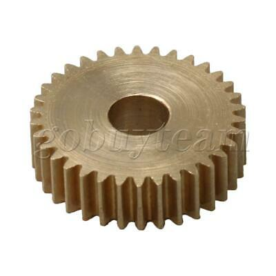 Cylinder Type 34 Teeth Brass Motor Copper Gear 0.5Module 18mm Tip Circle