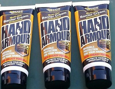 3 x Tubes Hand Armour NonGreasy Barrier Cream. (A Fisherman's Essential).