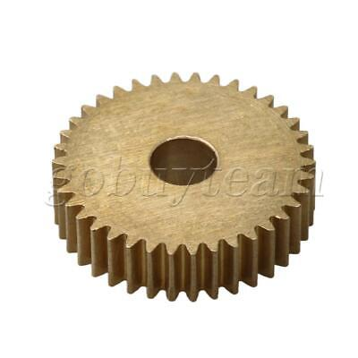 Cylinder Type 38 Teeth Brass Motor Copper Gear 0.5Module 20mm Tip Circle