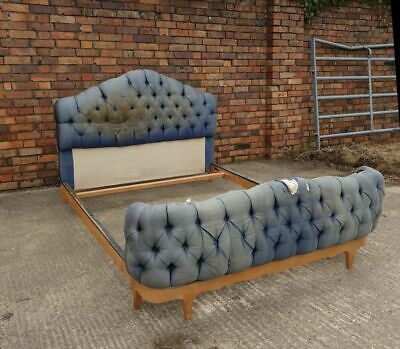 A Fantastic and rare upholstered Art Deco double bed attr. Suzanne Guiguichon