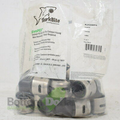 """SharkBite K260WP6 EvoPEX 1""""x1"""" Bag Of 6 Push To Connect Fitting Elbow"""