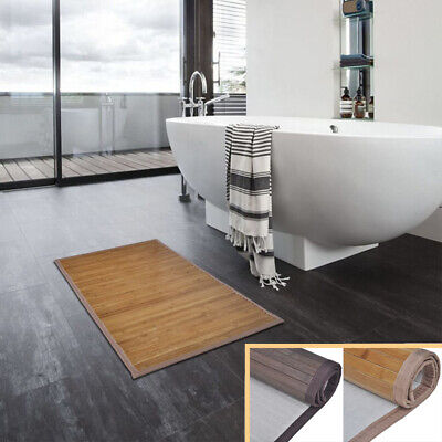 1/2 pcs  Non-slip Bath Mat Bathroom Floor Mat Bamboo Rectangular 40x50/60x90cm