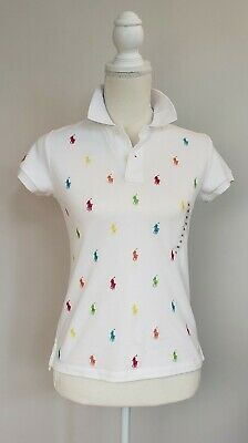 Nwt Polo Ralph Lauren Girls Polo T-Shirt All Over Pony #130