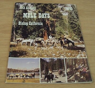 "VTG 1980 11th Annual PROGRAM for ""MULE DAYS""~Bishop CALIFORNIA~"