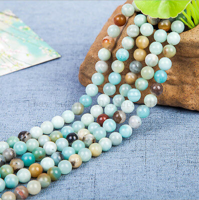 Natural Colorful Amazonite Gemstone Round Beads 16'' 4mm 6mm 8mm 10mm 12mm