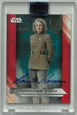 2018 Topps Star Wars Archives Signatures Commander D'Acy Auto 85/85