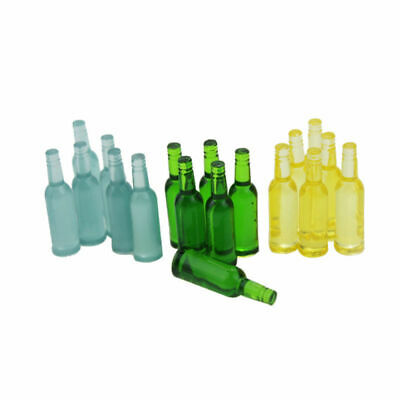 Miniature Wine Bottle Toy Mini Resin Model Doll House Accessories Beer 6pcs/set
