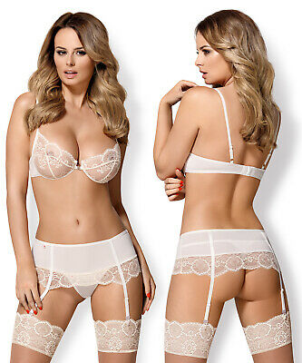5551dcb033b OBSESSIVE 874 Luxury Underwired Bra, Suspender Belt and Matching Thong Set