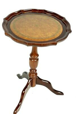 Vintage Georgian Style Mahogany Pedestal Wine Table - FREE Shipping [5310]