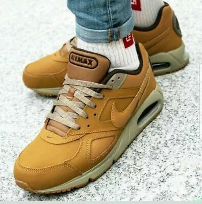 NIKE AIR MAX Ivo Leather Wheat Bamboo Trainers UK 7.5, 8