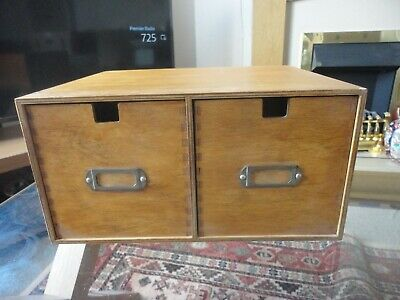 """VINTAGE Office INDEX/FILING pull Out Drawers W13"""" XD11"""" X H6.5"""""""