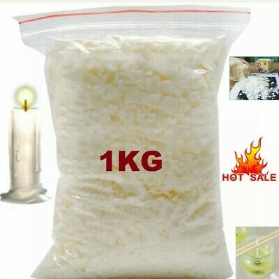 1Kg Soy wax / Soya Wax Flakes 100% Pure, Clean Burning, No Soot, Natural Soy Wax