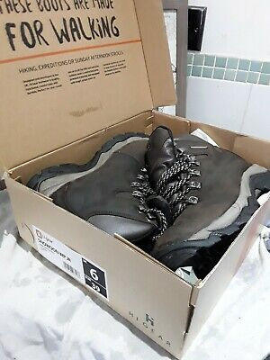 2d38d975b02 WOMENS HI GEAR Snowdon JR Leather Walking Boots size UK6