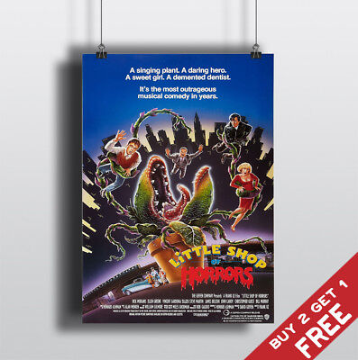 LITTLE SHOP OF HORRORS 1986 MOVIE POSTER Film A3 A4 Fan Art Print Home Wall Deco