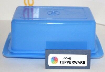 Tupperware Large Butter Dish 1 Pound Holds 2 or 4 Sticks Blue