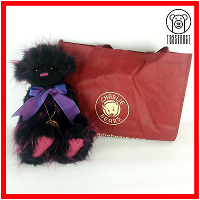 Charlie Bears Firecracker Soft Toy Stuffed Teddy w Bag Retired Secret Collection