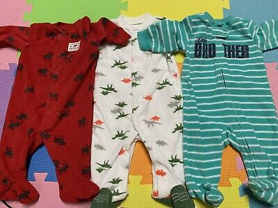 Carters 5pc Bodysuits Infant Baby Boy Everyday Cotton Size 3 Months NWT