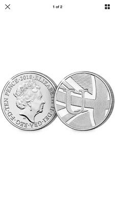 2018 10p coin Letter U-Union Flag Ten Pence Great British Coin Hunt X 25 Coins