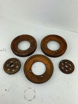 5 Steampunk Industrial Rusty Metal Art Gears Yard Garden Wall Art Springs