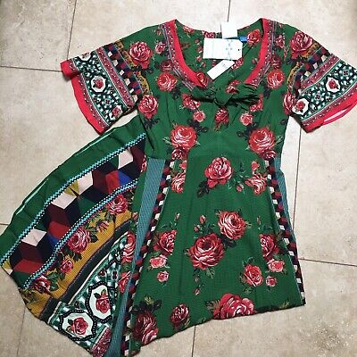 6dcf214b2e97 NWT ANTHROPOLOGIE FARM Rio Lorena Patchwork Tunic Dress XL $218 ...