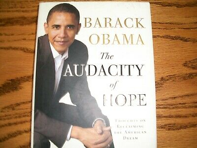 The Audacity of Hope by Barak Obama, hardcover, clean and unmarked