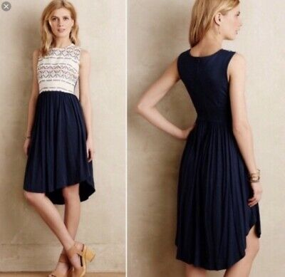 d22be29224ed9 Anthropologie DOLAN LEFT COAST COLLECTION SABADO Dress SMALL S 4 6 Blue