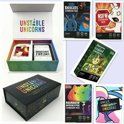 Unstable Unicorns Core Card Base Game With All Expansion Pack New Sealed Party