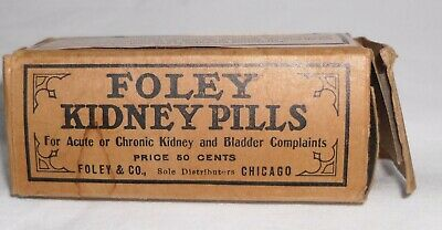 Foley Kidney Pills Box and Bottle