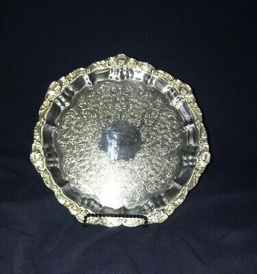 Towle Silver Plate Footed Round Tray